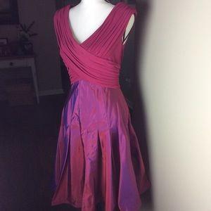 Tadashi collection fit and flare taffeta dress